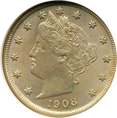 Image of 1908 5c  NGC MS63