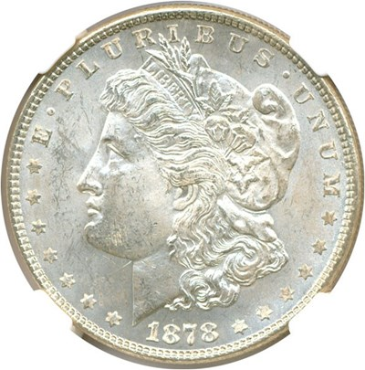 Image of 1878 7/8TF $1 NGC MS64 (VAM 33A 7/4TF Clashed)