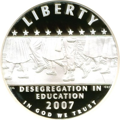 Image of 2007-P $1 Desegregation NGC Proof 70 UCameo