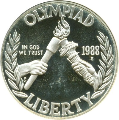 Image of 1988-S $1 Olympic NGC Proof 69 UCameo