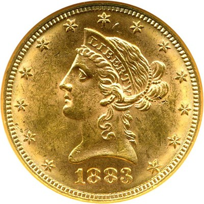 Image of 1883 $10  NGC MS62