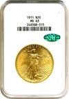 Image of 1911 $20  NGC/CAC MS63