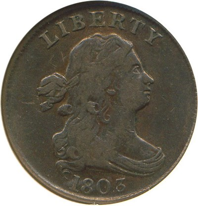 Image of 1803 1/2c  NGC VF25 BN