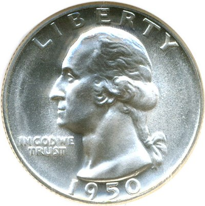 Image of 1950 25c  NGC Proof 68