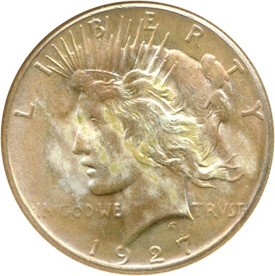 Image of 1927 $1  NGC MS64 *Color*