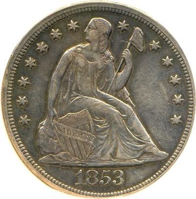 Image of 1853 $1  NGC AU53