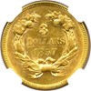 Image of 1857 $3  NGC/CAC AU55