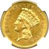 Image of 1857 $3  NGC/CAC AU55