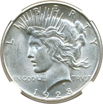 Image of 1928-S $1  NGC MS61