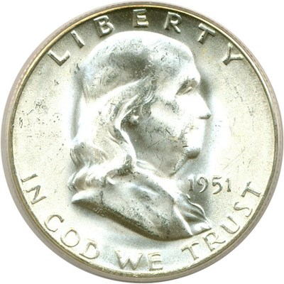 Image of 1951-S 50c  PCGS MS64 FBL