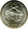 Image of 2006-P 25c South Dakota - Satin Finish NGC MS68