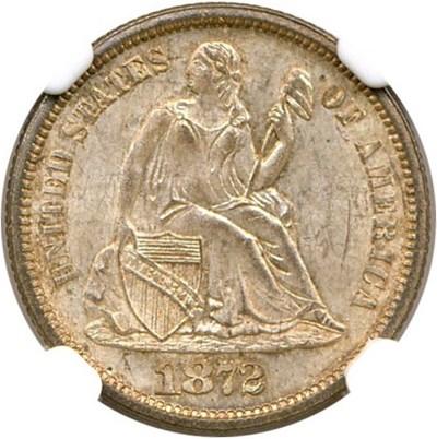 Image of 1872 10c  NGC MS64