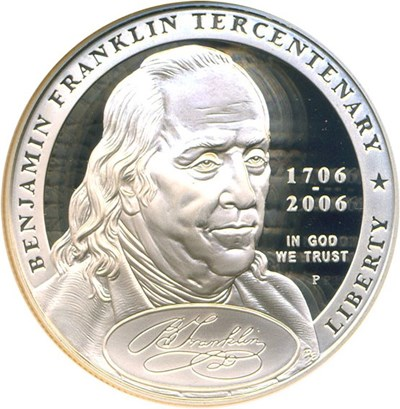 Image of 2006-P $1 Ben Franklin-Founding Father NGC Proof 70 UCameo
