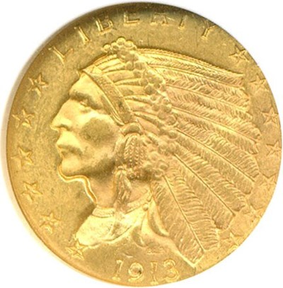 Image of 1913 $2 1/2 NGC MS63