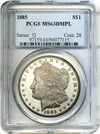 Image of 1885 $1 PCGS MS63 DMPL