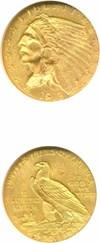 Image of 1913 $2 1/2 NGC MS63