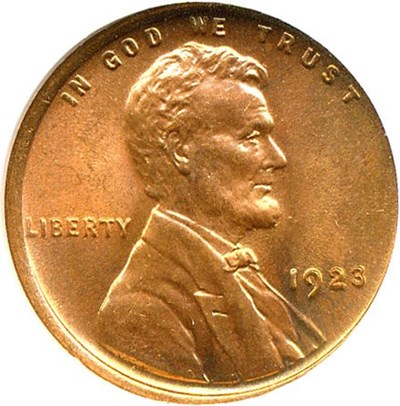 Image of 1923 1c NGC/CAC MS65 RD