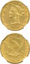 Image of 1892-O $10 NGC AU55