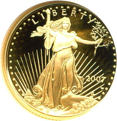 Image of 2007-W Gold Eagle $5 NGC Proof 70 UCameo
