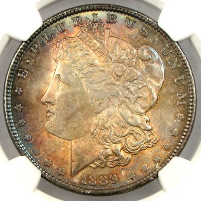 Image of 1889 $1 NGC MS65 * Color *