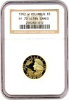 Image of 1992-W Columbus $5 NGC Proof 70 UCameo