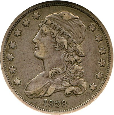 Image of 1838 Capped Bust 25c NGC XF45 (B-1)