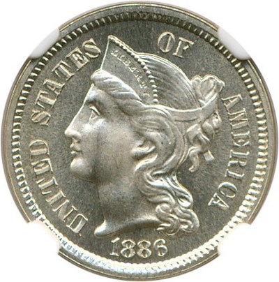 Image of 1886 3cN NGC Proof 67