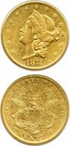 Image of 1874-CC $20 PCGS XF45
