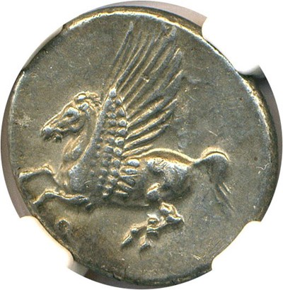 Image of Ancient Greek: 4th Cen BC Pegasus AR Stater NGC AU Corinth In Corinthia