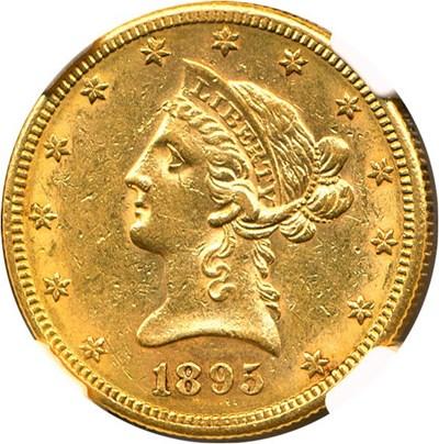 Image of 1895-S $10 NGC AU58