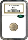 Image of 1873 3cN NGC/CAC Proof 66 (Closed 3)