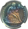 Image of 1860 10c NGC Proof 63 * Color *
