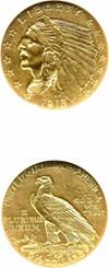 Image of 1913 $2 1/2 NGC AU58