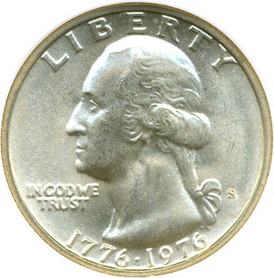 Image of 1976-S Silver 25c NGC MS66