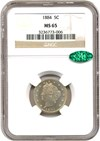Image of 1884 5c NGC/CAC MS65