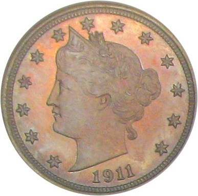 Image of 1911 5c NGC/CAC Proof 66