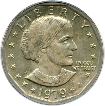 Image of 1979-P Susan B. Anthony $1 PCGS MS66  (Wide Rim)