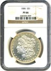 Image of 1886 $1 NGC Proof 66