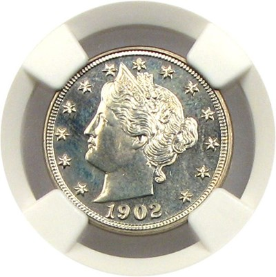 Image of 1902 5c NGC Proof 64