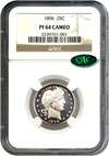 Image of 1896 25c NGC/CAC Proof 64 Cameo