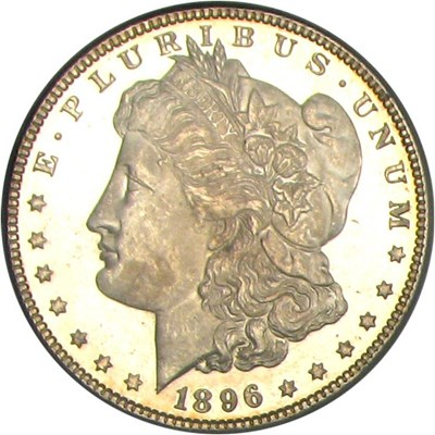 Image of 1896 $1 PCGS MS65 DMPL