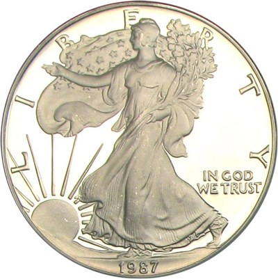 Image of 1987-S Silver Eagle $1 NGC Proof 69 UCameo