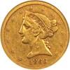 Image of 1866-S $5 NGC F15 (Motto)
