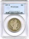 Image of 1897-S 50c PCGS G04