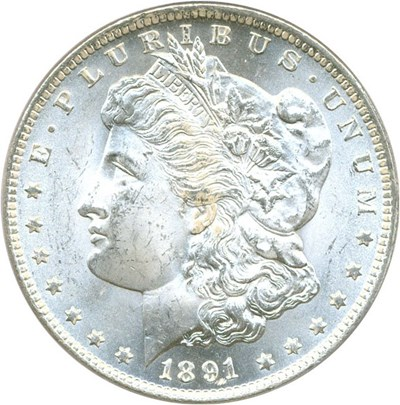 Image of 1891-CC $1 PCGS MS65