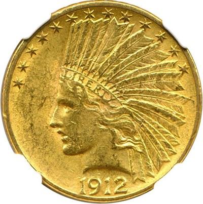 Image of 1912 $10 NGC AU58