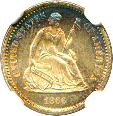 Image of 1866 H10c NGC MS67 * Color *