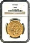 Image of 1857-S $20 NGC XF45