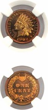 Image of 1902 1c NGC Proof 64 RB