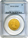 Image of 1796/5 $5 PCGS XF45 (Small Eagle)
